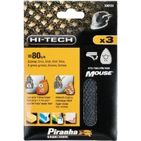 Black & Decker X39122 Piranha Anti Clog Mesh Sanding Cloth 80g Pack of 3 for Velcro Mouse Sanders