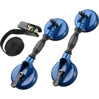 Britool Expert 3 Piece Windscreen Handling Suction Cup Lifter & Strap Kit