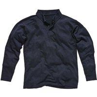 Dickies Mens Flame Retardant Long Sleeve Polo Shirt Navy L