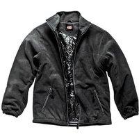 Dickies Mens Padded Fleece Jacket Black M