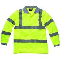 Dickies Mens High Vis Long Sleeve Polo Shirt Yellow L