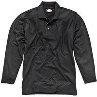 Dickies Mens Long Sleeve Polo Shirt Black 2XL