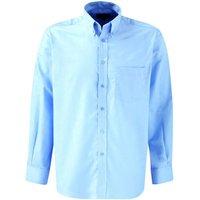 Dickies Mens Oxford Weave Long Sleeve Shirt Blue 16