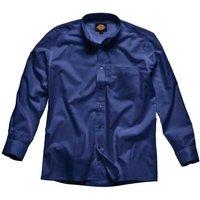 Dickies Mens Oxford Weave Long Sleeve Shirt Navy 16.5