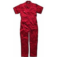 Dickies Mens Lightweight Cotton Short Sleeve Overalls Red L