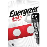 Energizer CR2025 Coin Lithium Battery Pack of 2