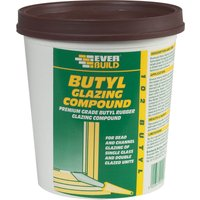Everbuild Butyl Glazing Compound Brown 2kg