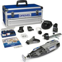 Dremel 8200 10.8v Cordless Multi Tool & Accessories 1 x 1.5ah Li-ion Charger Case & Accessories