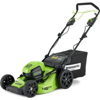 Greenworks GD60LM46 60v Cordless Self Propelled Rotary Lawnmower 460mm No Batteries No Charger