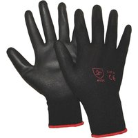 Handy Polyurethane Coated Knitted Gloves Black / Red L