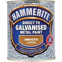 Hammerite Direct to Galvanised Metal Paint Copper 750ml