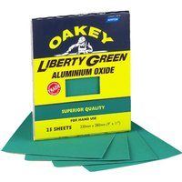 Oakey Green Aluminium Oxide Sanding Sheets Assorted Grit Pack of 3