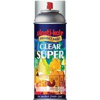 Plastikote Super Gloss Aerosol Spray Paint Clear 400ml