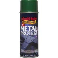 Plastikote Metal Protekt Aerosol Spray Paint Forest Green 400ml