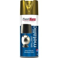Plastikote Brilliant Metallic Aerosol Spray Paint Gold 400ml