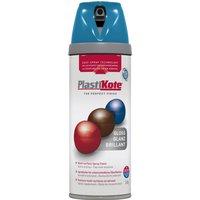 Plastikote Premium Gloss Aerosol Spray Paint Exotic Sea 400ml