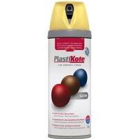 Plastikote Premium Satin Aerosol Spray Paint Daffodil 400ml