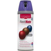 Plastikote Premium Satin Aerosol Spray Paint Sumptuious Purple 400ml