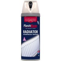 Plastikote Radiator Aerosol Spray Paint Magnolia 400ml