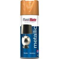 Plastikote Metallic Aerosol Spray Paint Bronze 400ml
