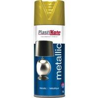 Plastikote Metallic Aerosol Spray Paint Brass 400ml