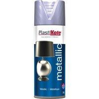 Plastikote Metallic Aerosol Spray Paint Silver 400ml