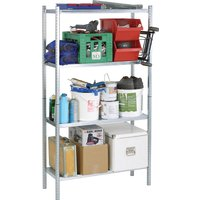 Raaco 4 Shelf Galvanised Steel Shelving Unit