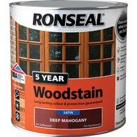 Ronseal 5 Year Woodstain Black Ebony 750ml