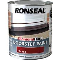 Ronseal Diamond Hard Door Step Paint Tile Red 750ml
