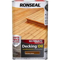 Ronseal Ultimate Protection Decking Stain Natural Cedar 5l