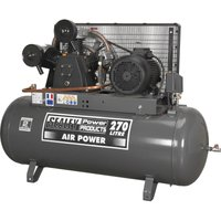 Sealey SAC32775B Belt Drive Air Compressor 270 Litre 415v