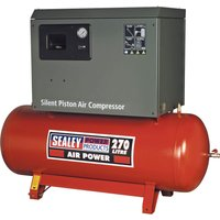 Sealey SAC72775BL Low Noise Air Compressor 270 Litre 415v