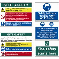 Scan Sign Construction Site Pack of 5