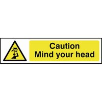 Scan Caution Mind Your Head Sign 200mm 50mm Standard