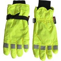 Scan Mens Hi Vis Gloves Yellow XL