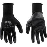 Scan Inspection Gloves Black Pack of 12 L