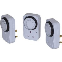 Smj Basix 24 Hour Mechanical Plug In Timer Pack of 3