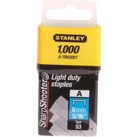 Stanley Light Duty Staples 8mm Pack of 1000
