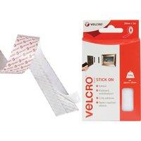 Velcro Brand Stick On Tape White 20mm 1m Pack of 1
