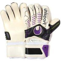 Ergonomic Soft Support Frame Goalkeeper Gloves White/Black/Purple