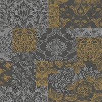 vymura wallpapers brocade gold/grey, m0892