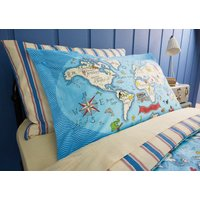 sanderson pillowcases treasure map housewife pillowcase, 591010