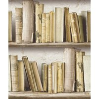 albany wallpapers vintage bookcase, sd3504