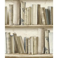 albany wallpapers vintage bookcase, sd3533