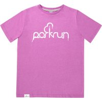 parkrun Kids Lace Graphic Tee - Radiant Orchid Running Short Sleeve Tops