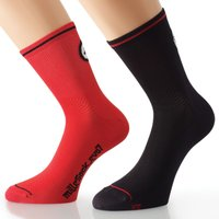 Assos milleSock_evo7 Red (2 pairs) Cycling Socks