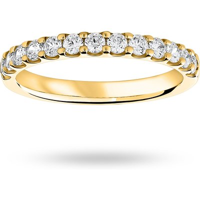 18 Carat Yellow Gold 0.50 Carat Brilliant Cut Half Eternity