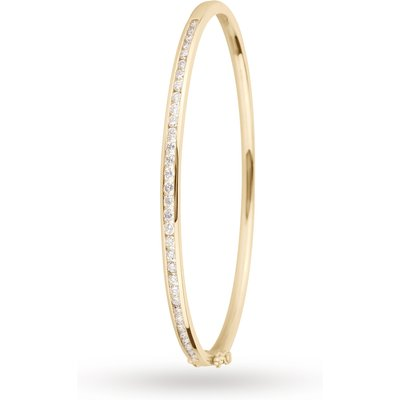 18ct Yellow Gold 1.00cttw Diamond Set Bangle
