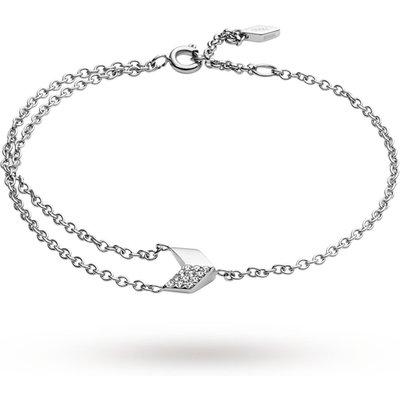 Fossil Ladies Vintage Glitz Silver Arrow Bracelet JF02429040