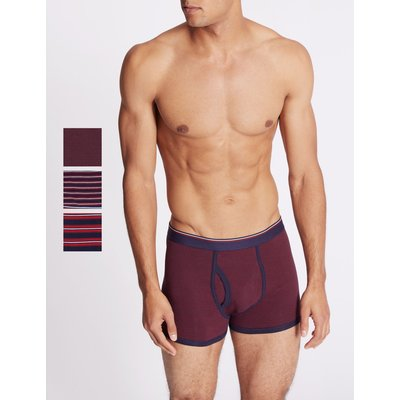 3 Pack Cotton Rich Striped Trunks multi